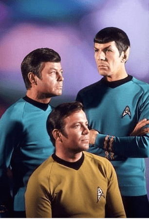 Star Trek Officers, Kirk, Spock and McCoy